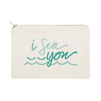 I Sea You-cotton Canvas Sac cosmétique