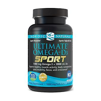 Ultimate Omega-D3 Sport, 1480mg Lemon 60 softgels