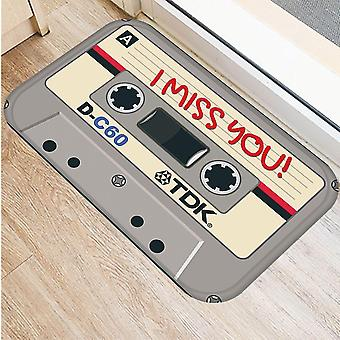Music Tape Anti-slip Doormat, Vacuuming Kitchen Bedroon Bath Floor Mats