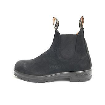 Men's Shoes Woman Blundstone Amphibian Nabuck Black Hammered Elastic 17bl12