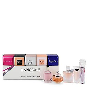 Lancome Best of Lancome-lahja setti sisältää Miracle-, Tresor-, La vie Est Belle-, Tresor in Love ja Hypnose-lahjojen, jotka ovat .16 oz Eau de Parfum. Tresor on .25 oz Eau de Parfum.