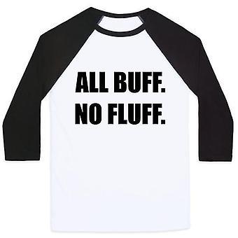 All buff. no fluff (black font) unisex classic baseball tee