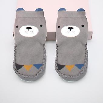 Children's Floor Cartoon Socks, Pu Bottom Shoes