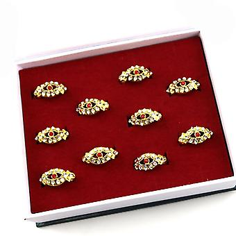10pcs Black Butler Sebastian Charloud Dome Ring Gold Set