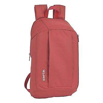 Casual backpack safta red