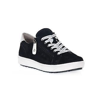 Jana comfort navy lether shoes