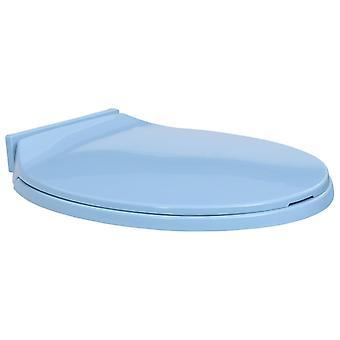 مقعد المرحاض vidaXL مع القيمة المطلقة التلقائي، الأزرق البيضاوي
