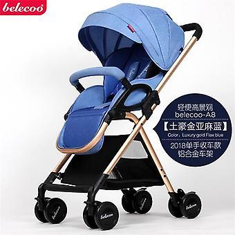Baby Stroller Reclining Shock Absorber Umbrella High Landscape Folding