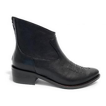 Women's Elite Ankle Boots Texan Leather Black Color Ds20el01