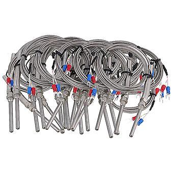 20 Pieces 5x50mm K Type Thermocouple Sensors Cable Measure Range -100~1000��C