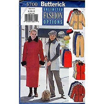 Butterick ompelu kuvio 5700 Misses Takki Housut Liivi Hame Koko 8-12 Leikkaamaton