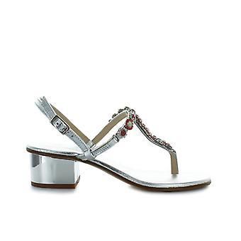Giallo Positano Silver Swarovski Mid-heeled Sandal