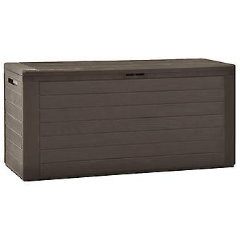 Garden Storage Box Brown 116x44x55 Cm