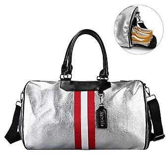Sports Luggage Travel Bags With Tag Duffel, Gym Leather Women Yoga Fitness
