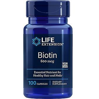 Lebensdauer Verlängerung Biotin 600mcg Caps 100