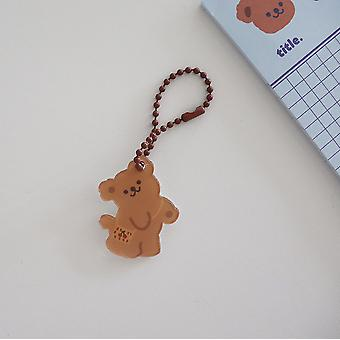 Korean Ins Angel Cake Bear Key Chain Cute Cartoon Decorative Pendant Backpack