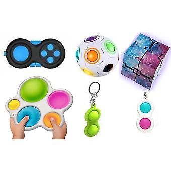 PRO sæt - 6 pack Fidget Toys Set for børn og voksne NYE