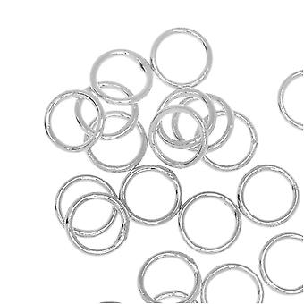 Jump Rings, Closed 6mm Diameter 21 Gauge, 20 Pieces, Silver Plated