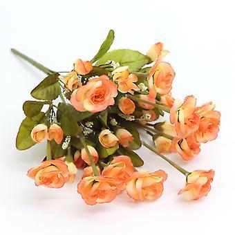 5pcs flor artificial persa rosa seca flor falsa regalo de flores para las mujeres