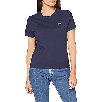 Tommy Jeans Tjw Tommy Classics Tee Shirt, Blue (Twilight Navy), XS Woman
