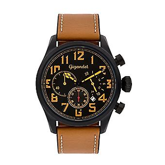 Gigandet G4-005 - Men's watch with leather strap, color: Brown