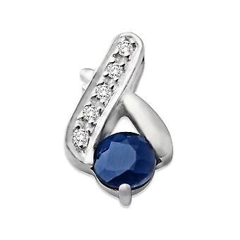 MIORE - Women's pendant with sapphire (0.33 ct), white gold 9k (375), cod. MCJ907P