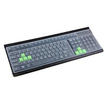 Couverture universelle de clavier d'ordinateur de bureau de silicone