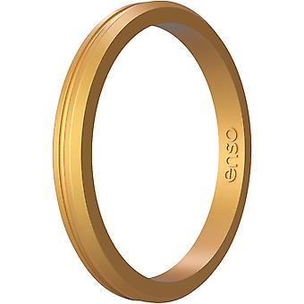 Enso Rings Halo Contour Elements Series Silicone Ring - Oro