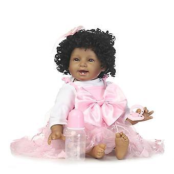"""נולד מחדש בייבי בובות דוקה Mjukt Silikon 22 """"/ 55cm מציאותי תינוק בובה מתנה"""