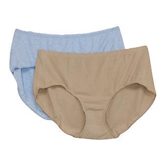 Rhonda Shear Women's Panties Reg 2-pack Melange Brief Blue 685226