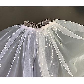 اكسسوارات الحجاب الزفاف، مغطاة الوجه القصير الحجاب الزفاف