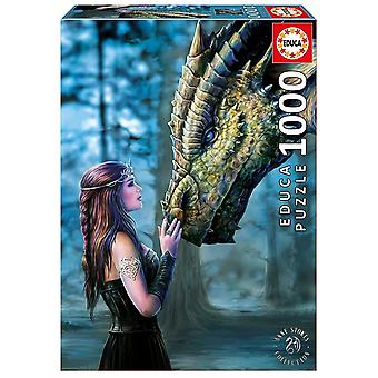 Educa Borrás 17099 Fantastic Characters Educa Borras Once Upon of Time 1000 Piece Jigsaw Puzzle, Multi