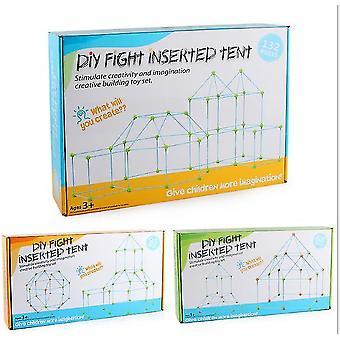 Enfants construction fort construction kit de construction 85 pièces ultime forts constructeur cadeau x6583