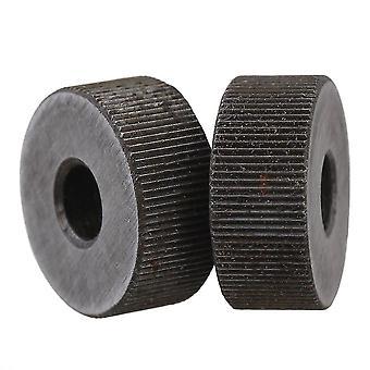 2個用 0.6mm ピッチ 19mm OD 単一の直線粗いパターン 線形の編む車輪 WS461