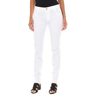 MET pantalones de mujer Melissa Fil blanco