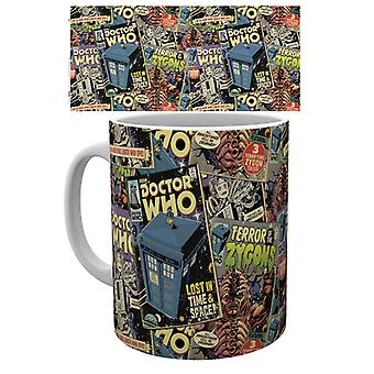 Doctor Who serietidningar mugg