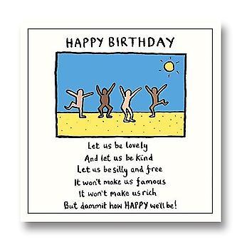 Pigment Edward Monkton - Happy Birthday Everyday Blank Card Sf813a