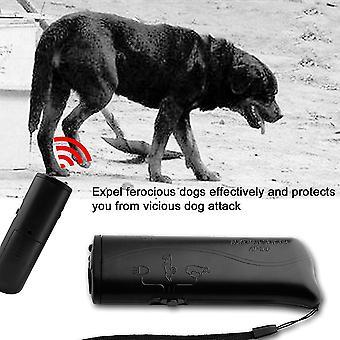 3 in 1 handheld ultrasone anti blaffen hond trein repeller trainer apparaat cd-100