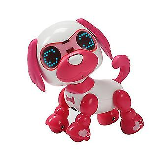 Children's smart pet dog induction touch electric toy(Red)