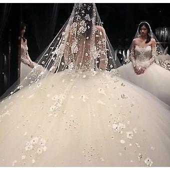 Voile de mariage long nuptiale perlé