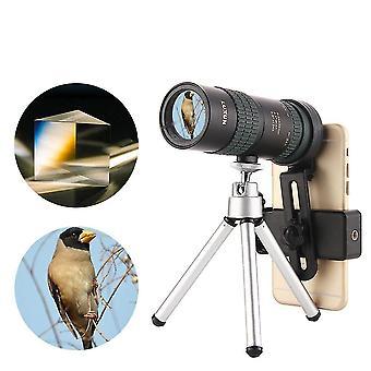 8-24x30 Zoom Monokular BAK4 Optisches Objektiv Teleskop für Outdoor Travel Telefon Schießen
