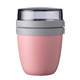 Reusable Meal Prep Lunch Pot Snack Pot Nut Preservation Cup Lunch Box Portable Food Container(pink)
