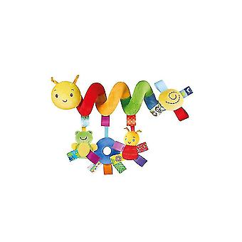 Colorful Insects Pram Crib Toy Lovely Cartoon Baby Spiral Toy Plush Activity Spiral For Infant