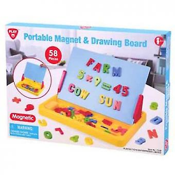 Portable Magnet & Drawing Board & Accessories (58pcs)