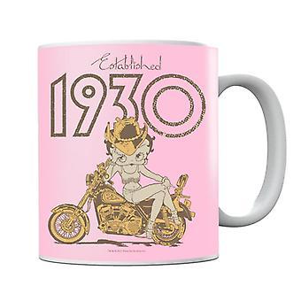 Betty Boop Established 1930 Golden Bike Mug