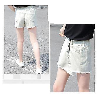 Girls Denim Skirt - Fashion  Casual Teenage Short