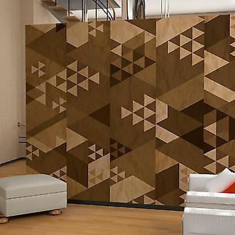 Papel pintado - Patchwork marrón