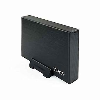 """Ulkoinen laatikko TooQ TQE-3527B 3,5"""" SATA USB 3.0 Musta"""