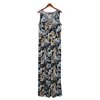 G av Giuliana Kvinners Jumpsuits Reg Strikket Floral Black 649943