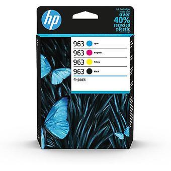 HP 963 4-pack originalbläckpatroner svart/cyan/magenta/gul, Pigmentbaserat blä